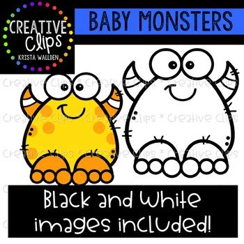 baby monsters halloween clipart creative clips