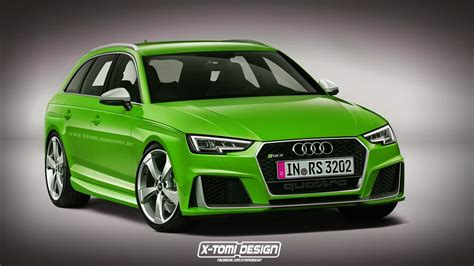 2017 Audi Rs4 Avant Rendered, But What Will Power It