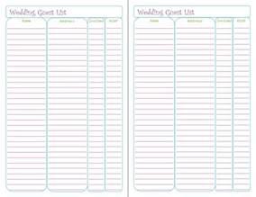 wedding tracker free printable wedding guest list tracker peanut and jellybean