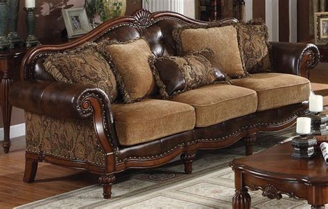 leather and fabric sofa mix traditional sofa leather fabric mix dream room living