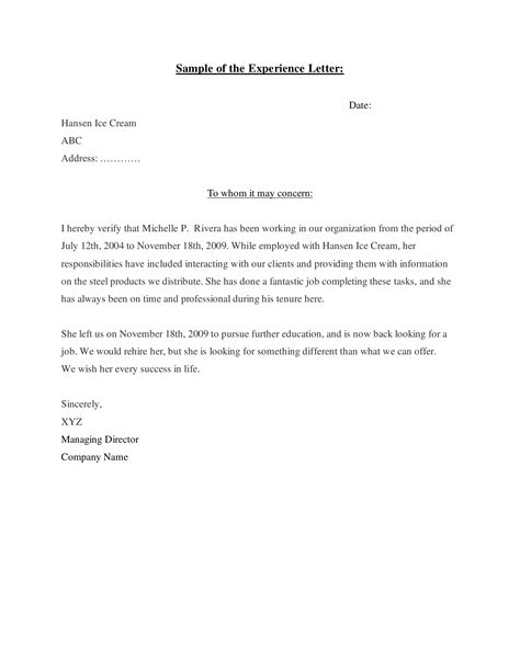 Dentistry Work Experience Letter by 16 How To Write Work Experience Letter Imageresume
