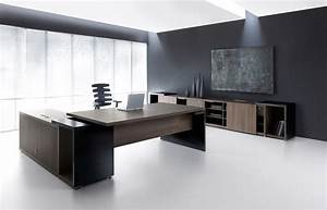 Ultra Modern Executive Black Desk - Ambience Doré  Modern