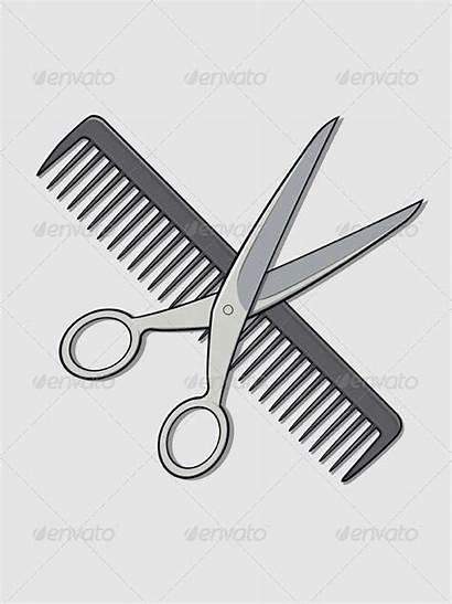 Comb Brush Scissors Hair Scissor Barber Graphicriver