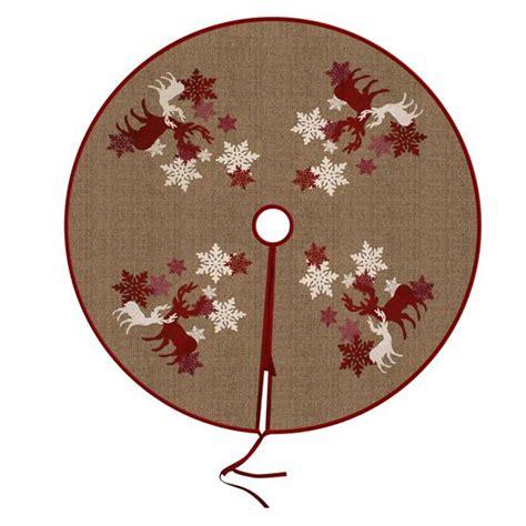 tapis de sapin rond renne accessoires pour sapin eminza
