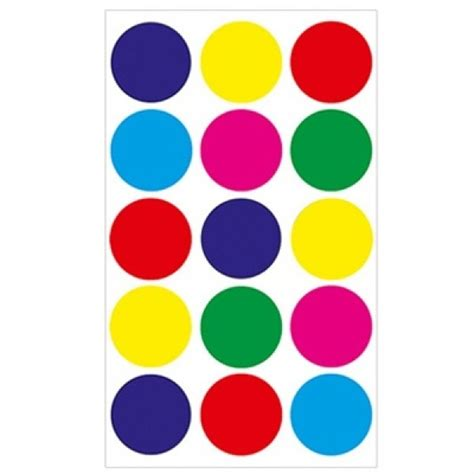 colored circle stickers colored 1 1 4 quot circle stickers stickers for