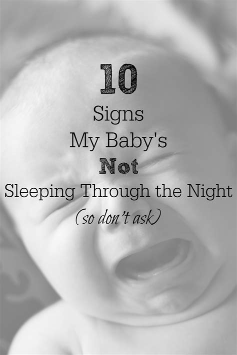 10 Signs My Babys Not Sleeping Through The Night So Don