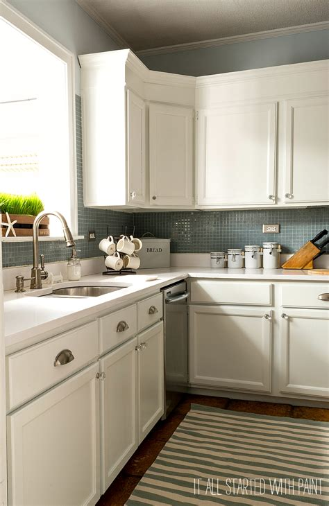 kitchen without backsplash builder grade kitchen makeover with white paint