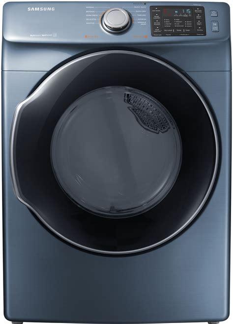 Samsung Azure Blue Gas Steam Dryer   DVG45M5500Z