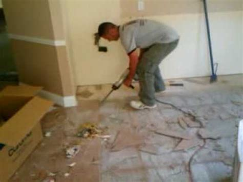 removing tile youtube