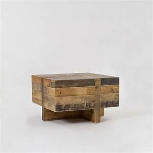 emmersonr reclaimed wood block side table west elm With west elm emmerson reclaimed wood coffee table