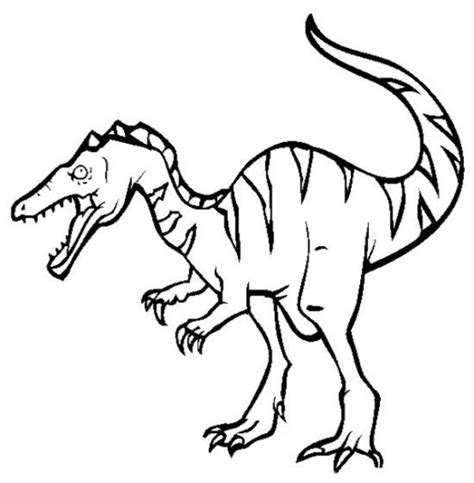 Gallimimus Kleurplaat by Baryonyx Dinosaur Coloring Pages For 550x561 Picture