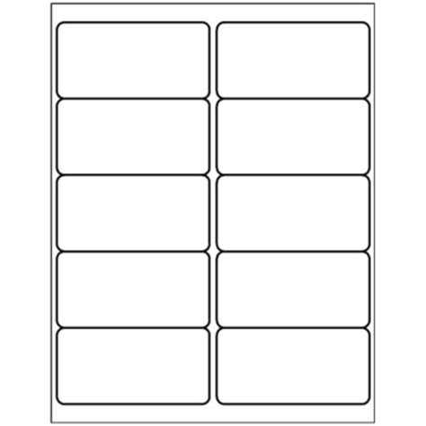 Avery 2x4 Label Template fax cover sheet template