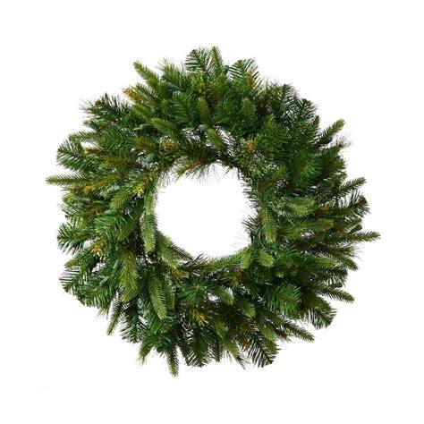 indoor christmas wreaths shop vickerman 24 in indoor outdoor green pine artificial christmas wreath at lowes com