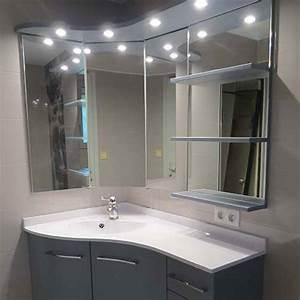 Meubles de salle de bain d39angle borneo atlantic bain for Salle de bain design avec meuble salle de bain 60 cm castorama