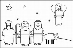HD Wallpapers Coloring Pages Angel Gabriel Visits Mary