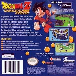 Dragon Ball Z The Legacy Of Goku Box Shot For Game Boy