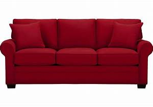 Cindy Crawford Home Bellingham Cardinal Sofa - Sofas (Red)