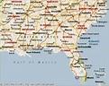 Map Of Southeast U S - HolidayMapQ.com