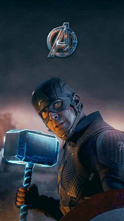 Captain America Mjolnir Wallpapers Mobile Still Endgame