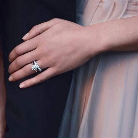 this picture is my engagement and wedding ring