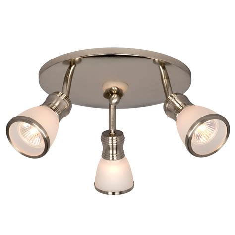 track lighting home depot hton bay brushed nickel track light the home depot canada