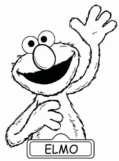 Coloring Raise Elmo Sesame Hand Pages Street