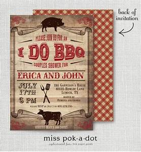 rustic i do bbq barbecue couples wedding shower invitation With bbq wedding shower invitations