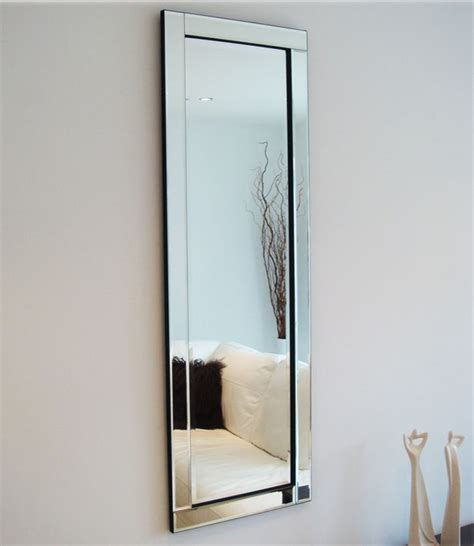 Glass Framed Mirror Full Length 120 x 40 cm Exclusive