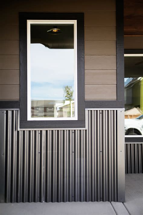 Corrugated Metal Wainscot By Bridger Steel  Metal Accents