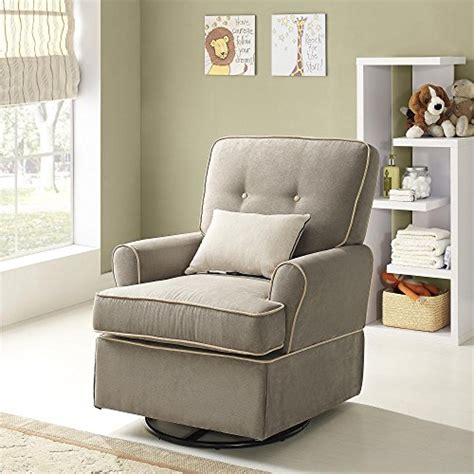baby relax the tinsley nursery swivel glider chair light