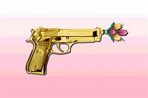 gun shooting flowers | Tumblr