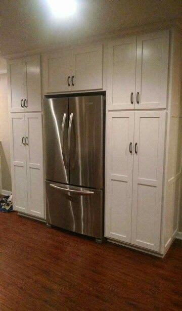 Cabinets Around Fridge by Pantry Cabinets Around Cabinet Depth Fridge Decor
