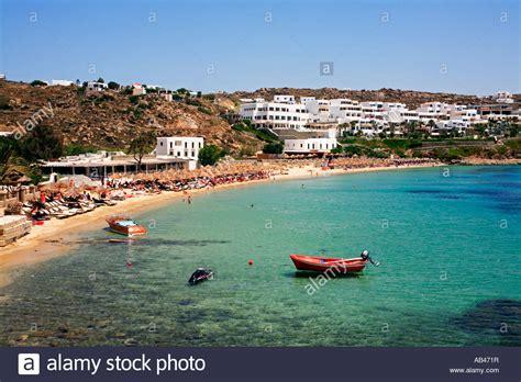 Super Paradise Beach Mykonos Greece Stock Photo Royalty