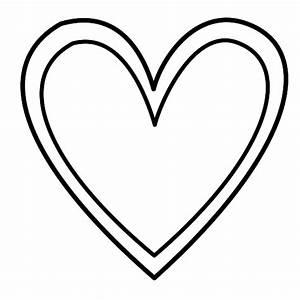 Double Heart Outline clip art - vector clip art online ...