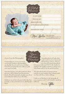 mia bella photography newborn photoshoot gift With photoshoot gift certificate template