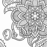 Coloring Swear Pages Word Printable Cuss sketch template