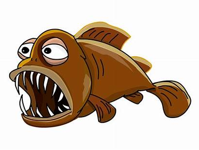 Fish Cartoon Lantern Teeth Clipart Jaw Clip