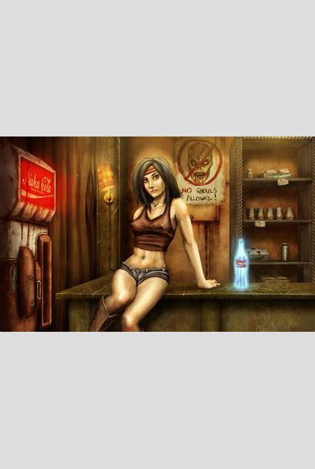 Images Fallout Girls Games Singlet Belly Bottle Painting Art