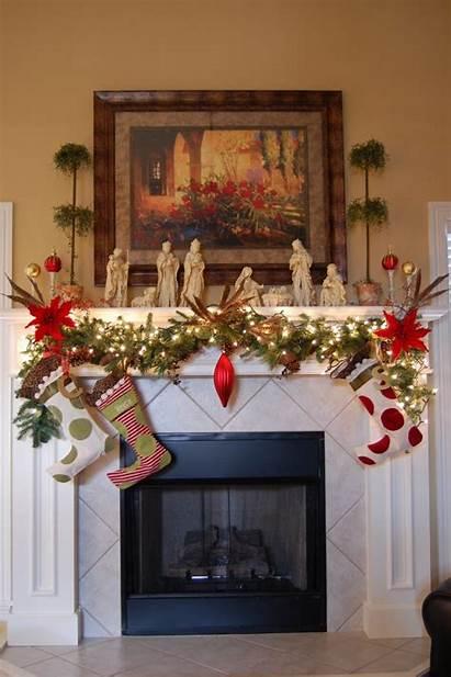 Christmas Decorating Lights Indoor Mantel Decorations Interior