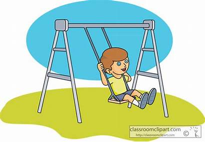 Swing Clipart Playground Clip Cliparts Classroom Recreation