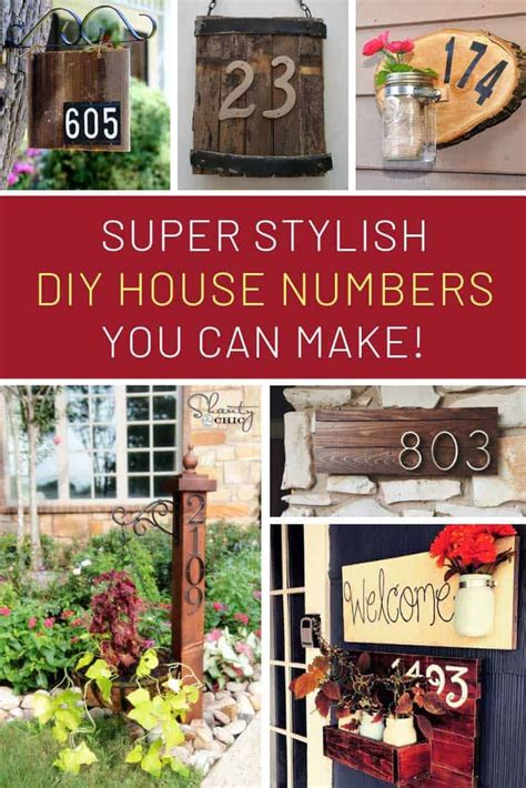 gorgeous diy house number signs