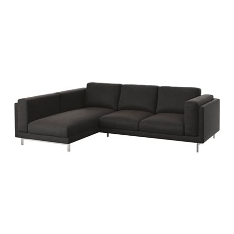 nockeby canap 233 2 places m 233 ridienne gauche ten 246 gris fonc 233 chrom 233 ikea