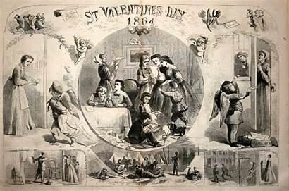 Valentine Weekly History Valentines Harper 1864 Illustration