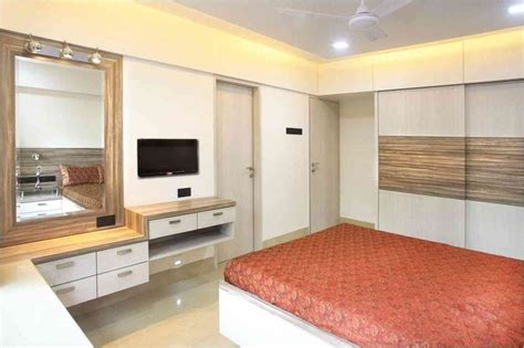 master bedroom interior design master bedroom with mirror design by suneil verma Indian