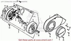 Honda Ct70 Trail 70 K4 1975 Usa Left Crankcase Cover