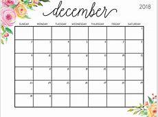 Cute December 2018 Calendar With Notes – Free Calendar