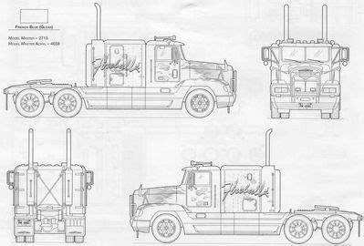 The used 1983 kenworth k100 is offered at cad $75,882.13. Image result for freightliner blueprints | Camión de madera, Camiones, Planos