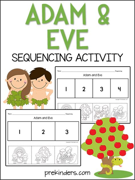 adam eve sequencing activity prekinders