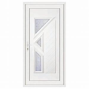porte d39entree pvc lisa poussant droit 200 x 80 cm With porte d entree 80 cm largeur