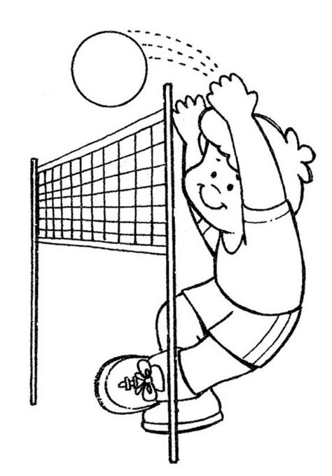 volleyball preschool coloring page sports